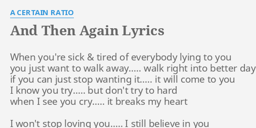 i just want to know you better lyrics