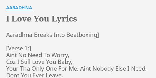 coz i love you lyrics