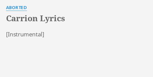 Aborted cadaverous dissertation lyrics