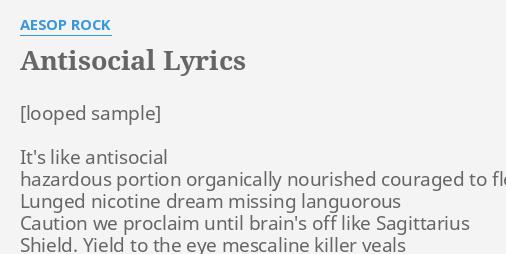 while she sleeps antisocial lyrics