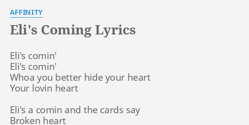Hide your heart lyrics