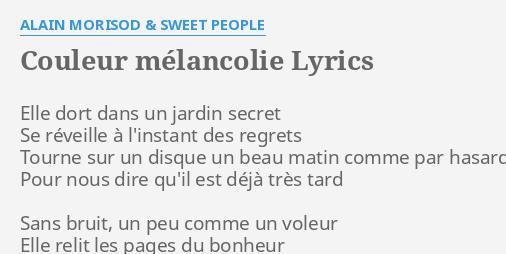 Sur la mélancolie Hill cœur gris chanson LYRIC Cadeau Imprimé