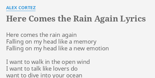 HERE COMES THE RAIN AGAIN