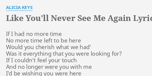 When will i touch you again lyrics