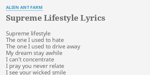 lifestyle lyrics