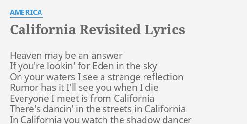 California Revisited