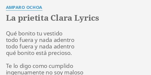Vestido bonito lyrics