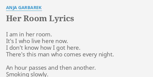 HER ROOM LYRICS By ANJA GARBAREK I Am In Her