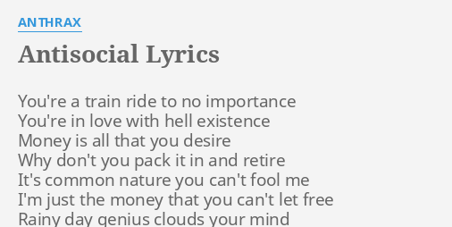 antisocial lyrics