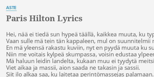 mä haluun sut lyrics