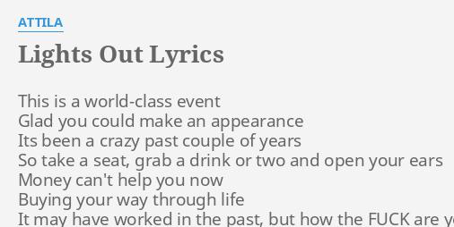 Lights out lyrics by attila this is a world class lights out lyrics by attila this is a world class stopboris Gallery