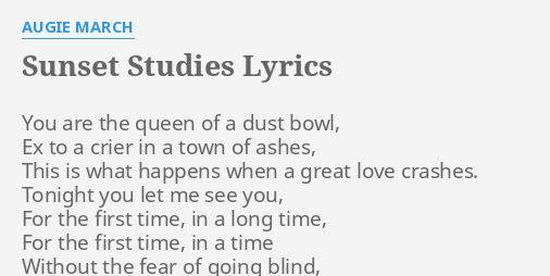 going blind lyrics