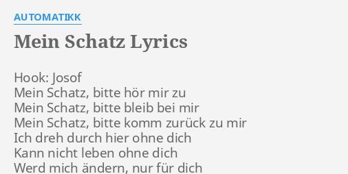 Mein Schatz Lyrics By Automatikk Hook Josof Mein Schatz