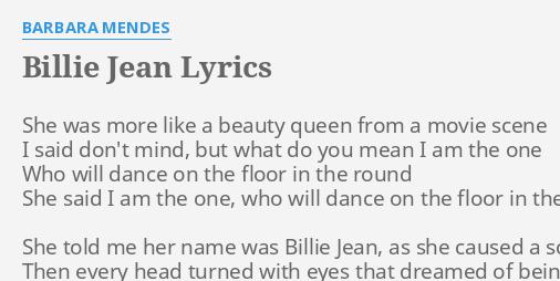 billie jean lyrics