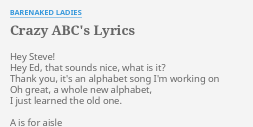 Bare naked ladies crazy abcs — pic 5