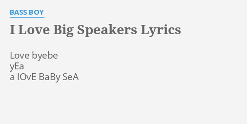 speakers lyrics. \ speakers lyrics