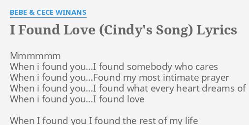 bebe and cece winans i found love
