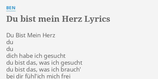 Mein songtext bist du ching Du Bist