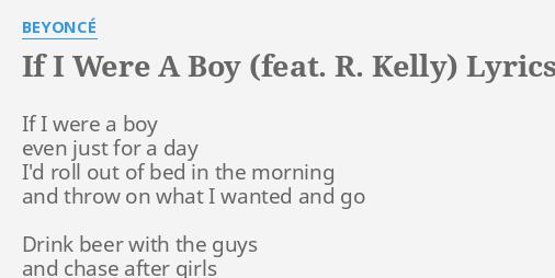 R Kelly Lyrics By Beyonce If I Were A