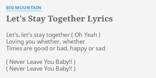 Times Are Good Or Bad Happy Or Sad Lyrics