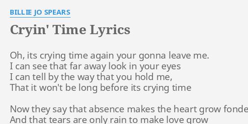 CRYIN\' TIME\