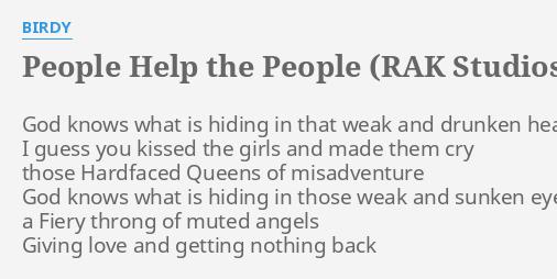 PEOPLE HELP THE PEOPLE (RAK STUDIOS SESSION)