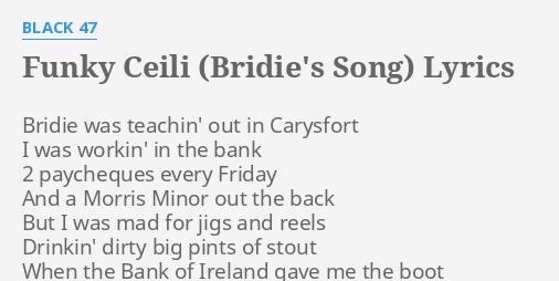 FUNKY CEILI (BRIDIE'S SONG)