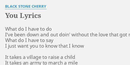 It takes a village lyrics