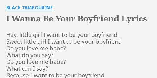 sweet lyrics for your boyfriend