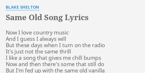 old country love song lyrics