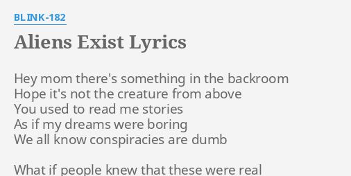 Blink-182 - Aliens Exist