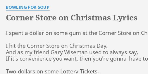 CORNER STORE ON CHRISTMAS\