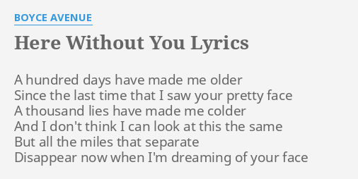 With without you lyrics
