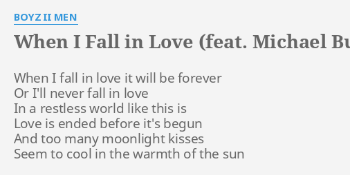 WHEN I FALL IN LOVE (FEAT  MICHAEL BUBLE)