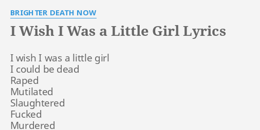 i was a little girl