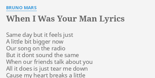 when was your man lyrics