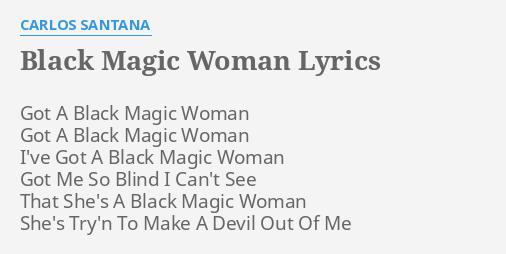lyrics black magic woman santana