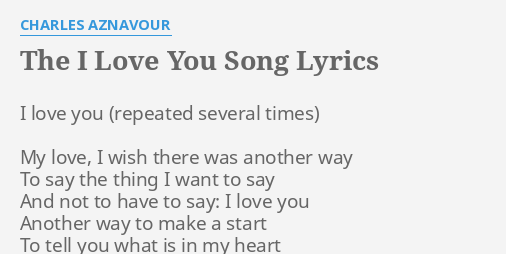 what i love about you song