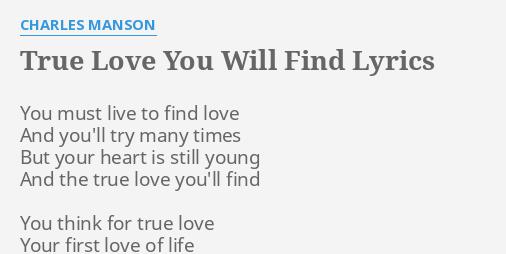 you ll find love lyrics