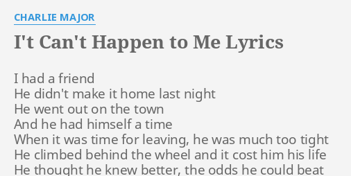 Why did this happen to me lyrics