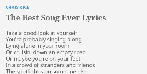 best song ever lyrics