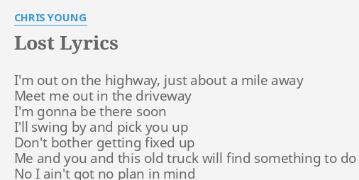 Finding something to do lyrics