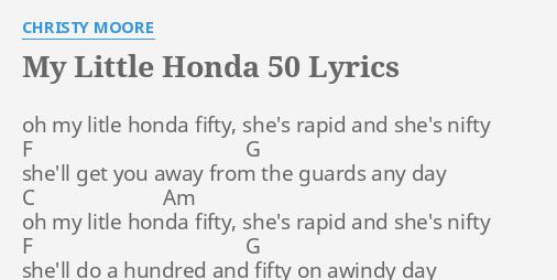 little honda текст песни