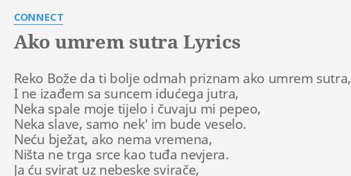 AKO UMREM SUTRA LYRICS By CONNECT Reko Boe Da Ti