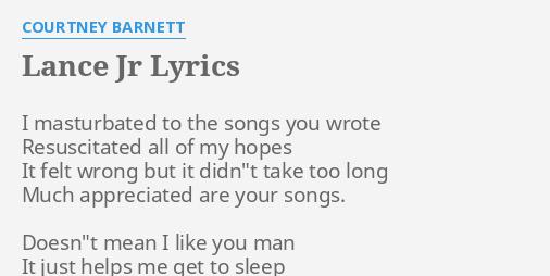 Lance jr lyrics