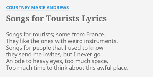 SONGS FOR TOURISTS\