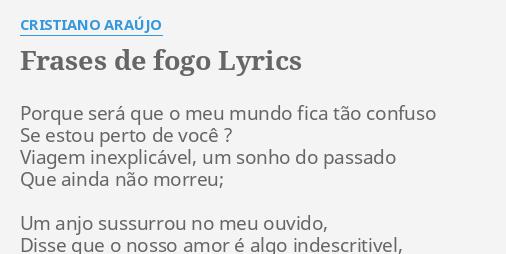 Frases De Fogo Lyrics By Cristiano Araújo Porque Será Que O