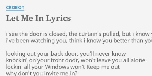Extraordinary Looking Out The Front Door Lyrics Gallery - Image ...