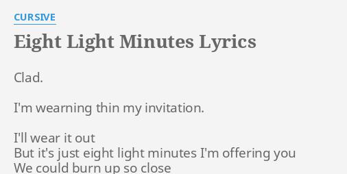 Eight light minutes lyrics by cursive clad im wearning thin eight light minutes lyrics by cursive clad im wearning thin stopboris Images