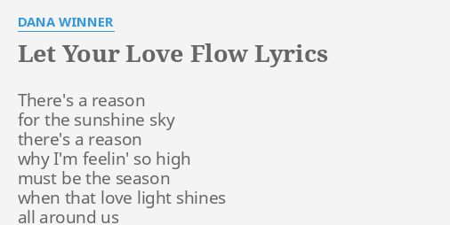 Let your love show lyrics